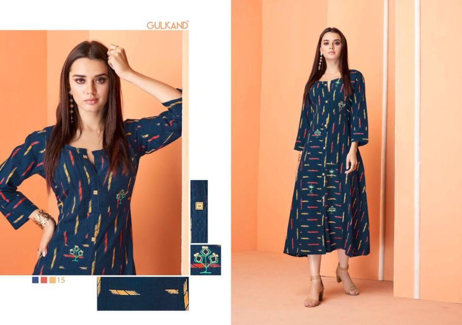 Gulkand simran designer party wear cotton kurties collection
