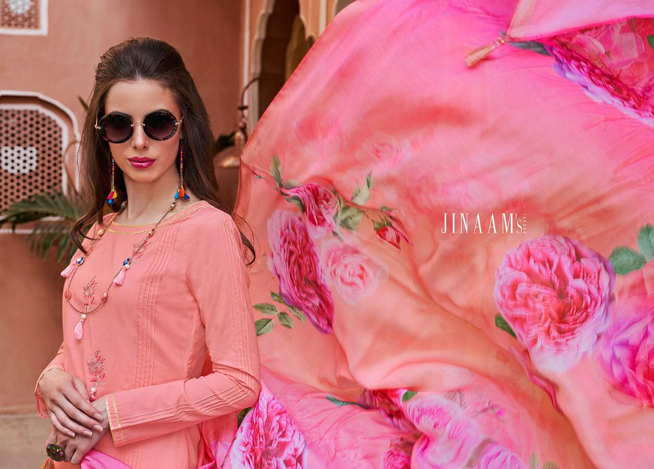 ec48c01066 Jinaam dress rumaysha cotton embroidered kurta with plazzo Material