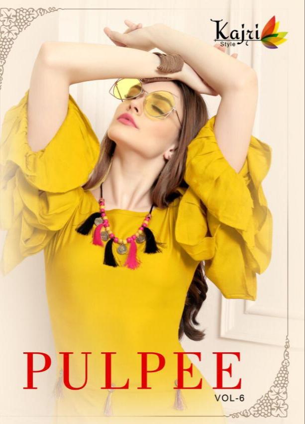 Kajri style pulpee vol 6 rayon kurties Wholesaler