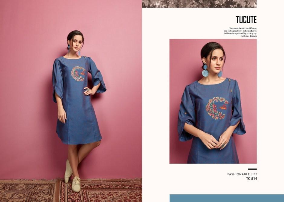 Karma trendz tucute 513 series fancy printed ready to wear kurties Online at wholesale rate
