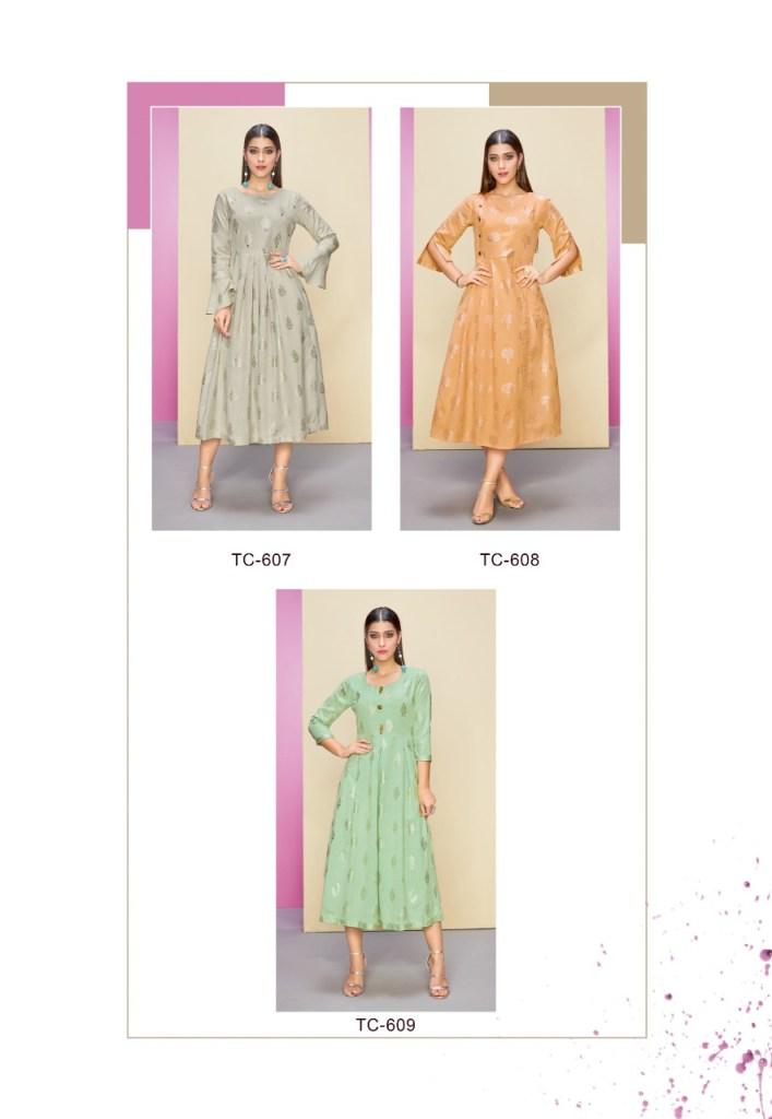 Karma trendz tucute 603 series fancy printed kurties collection