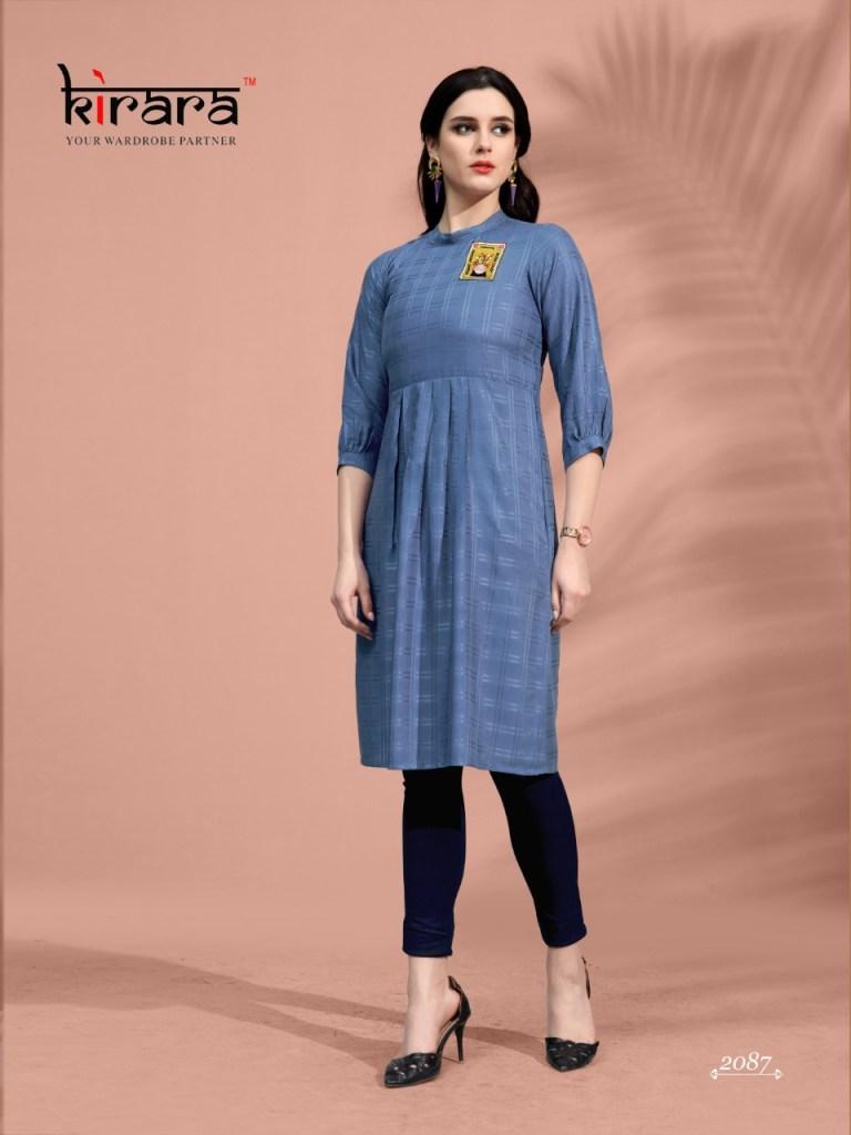 Kirara artisans casual wear fancy rayon kurties