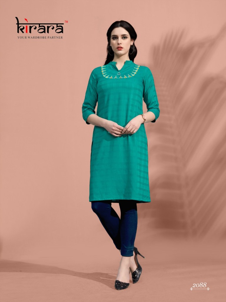 Kirara artisans casual wear fancy rayon kurties