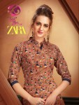Kurti times zara beautiful a-line rayon printed kurties