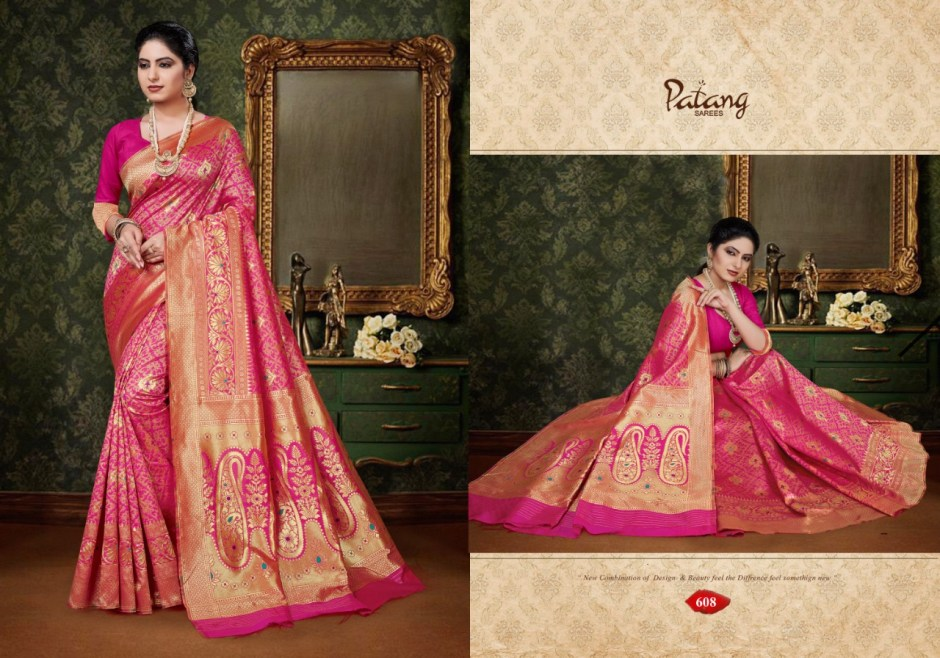 Patang parineeti party wear Exclusive collection of silk sarees