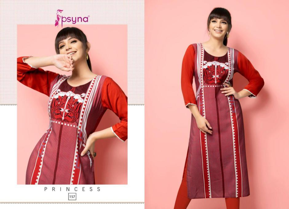 Psyna princess vol 15 rayon printed daily wear kurties collection