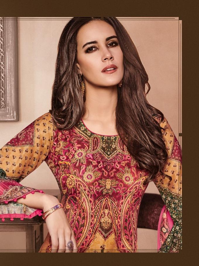Reyna artistic designer printed salwar kameez collection