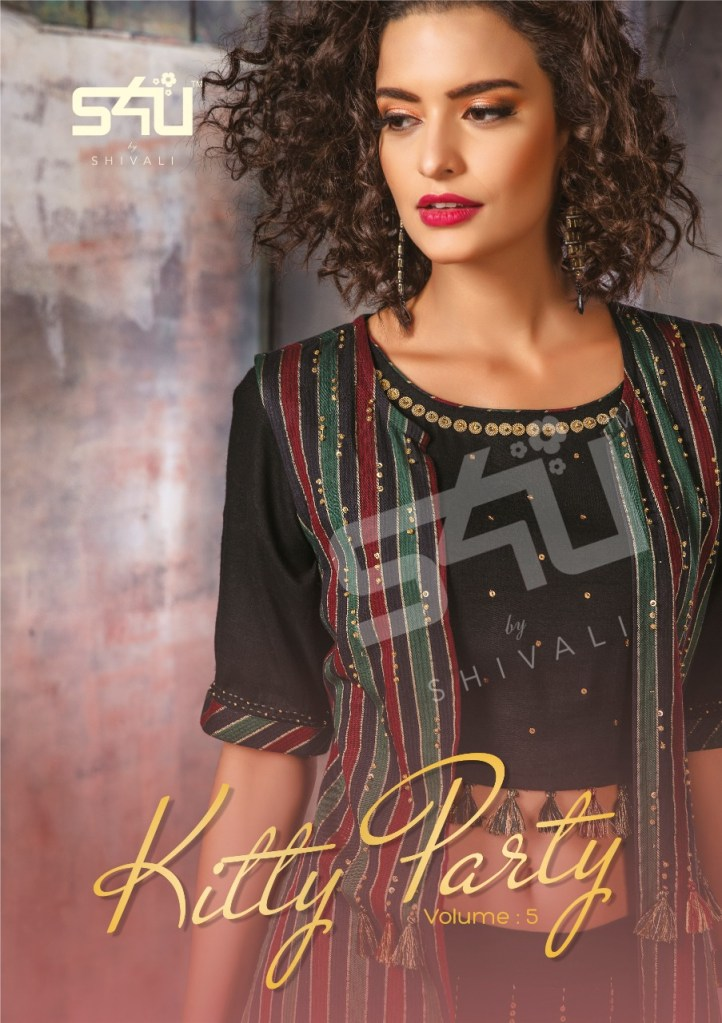 S4u by shivali kitty party vol 5 fancy party wear kurties collection at wholesale rate