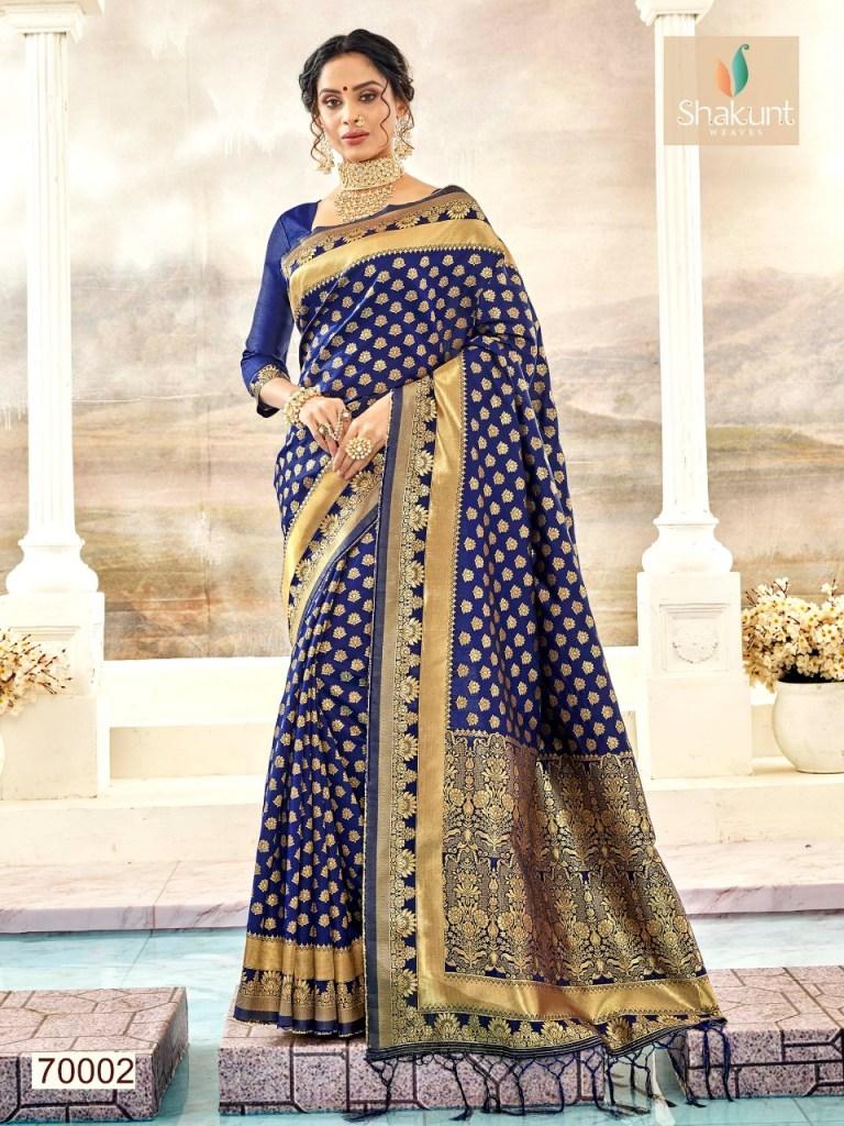 Shakunt weaves purvi colourful printed sarees catalog