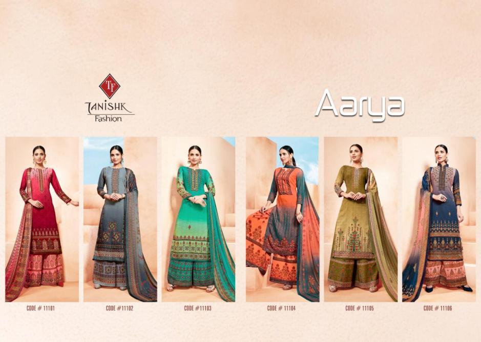 Tanishk fashion aarya georgette printed salwar with sharara collection