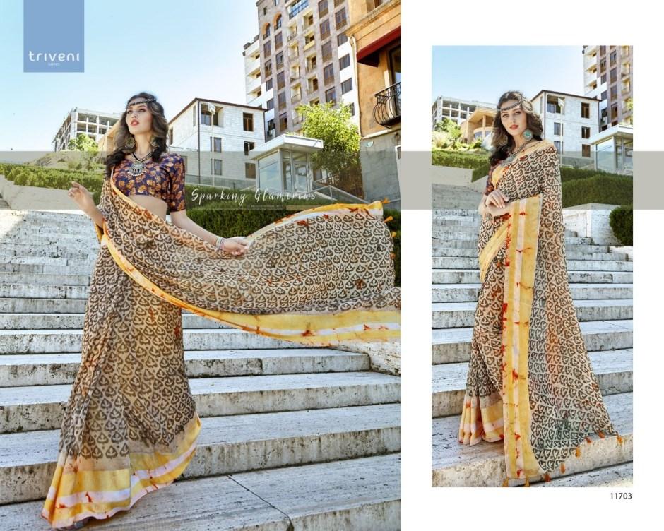 Triveni pranjal occasional wear sarees wholesale supplier