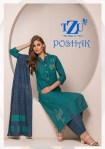 Tzu lifestyle poshak embroidered cotton kurties at best rate