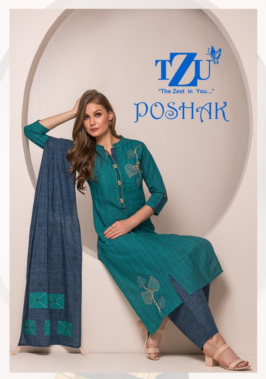 Tzu lifestyle poshak embroidered cotton kurties at best rate