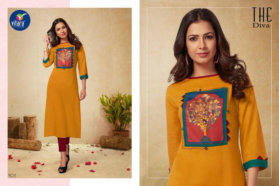 Vitara fashion dazzle latest designer kurties collection