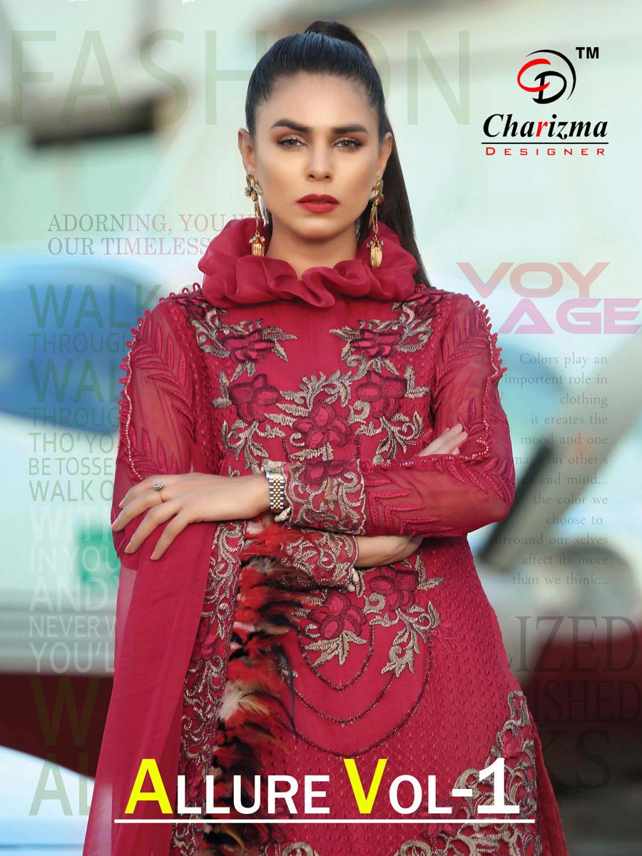 Charizma designer allure vol 1 pakistani salwar kameez collection wholsaler