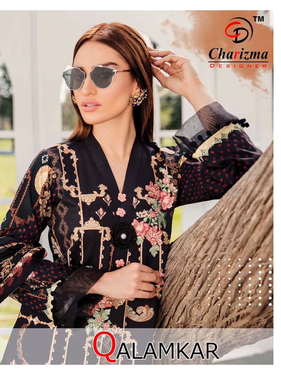 Charizma designer qalamkar vol 1 pakistani dress suits for womens