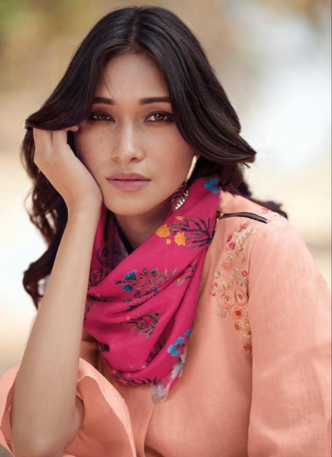 Jansi pero beautiful designer long gowns with dupatta