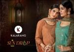Kalarang sun drop cotton embroidered salwar suit with plazzo at wholesale rate