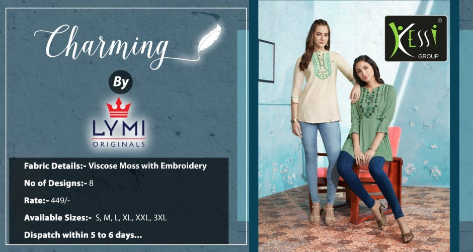 Lymi fabrics charming embroidered short tunics catalog exporter