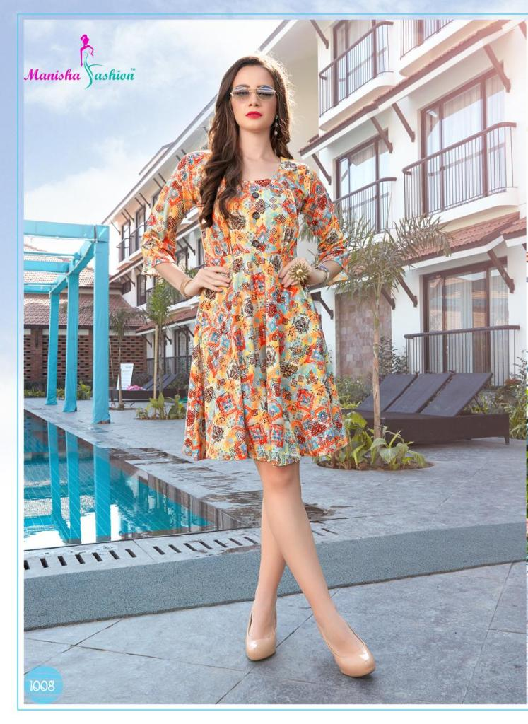Manisha fashion malvika vol 1 designer partywear short top collection