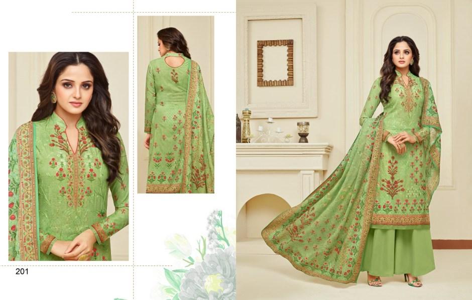 Meera trendz daisy cotton printed salwar kameez wholsaler