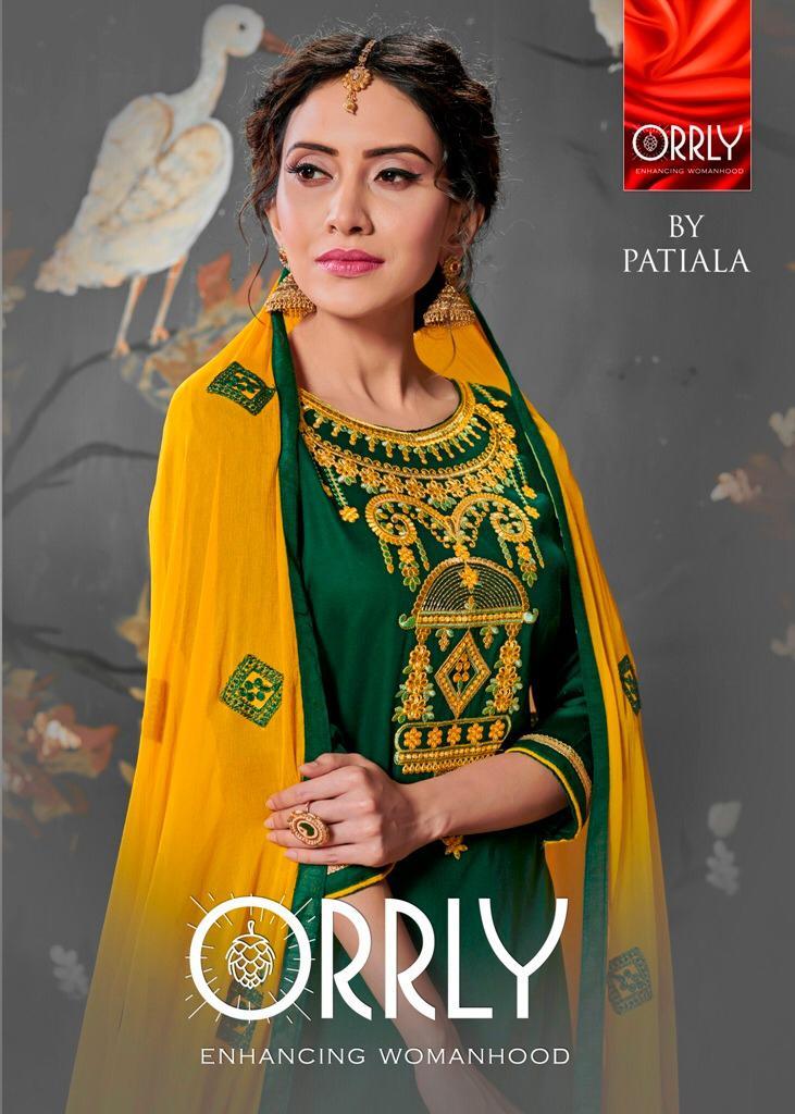 Orrly 4000 series silk patiala salwar Kameez collection
