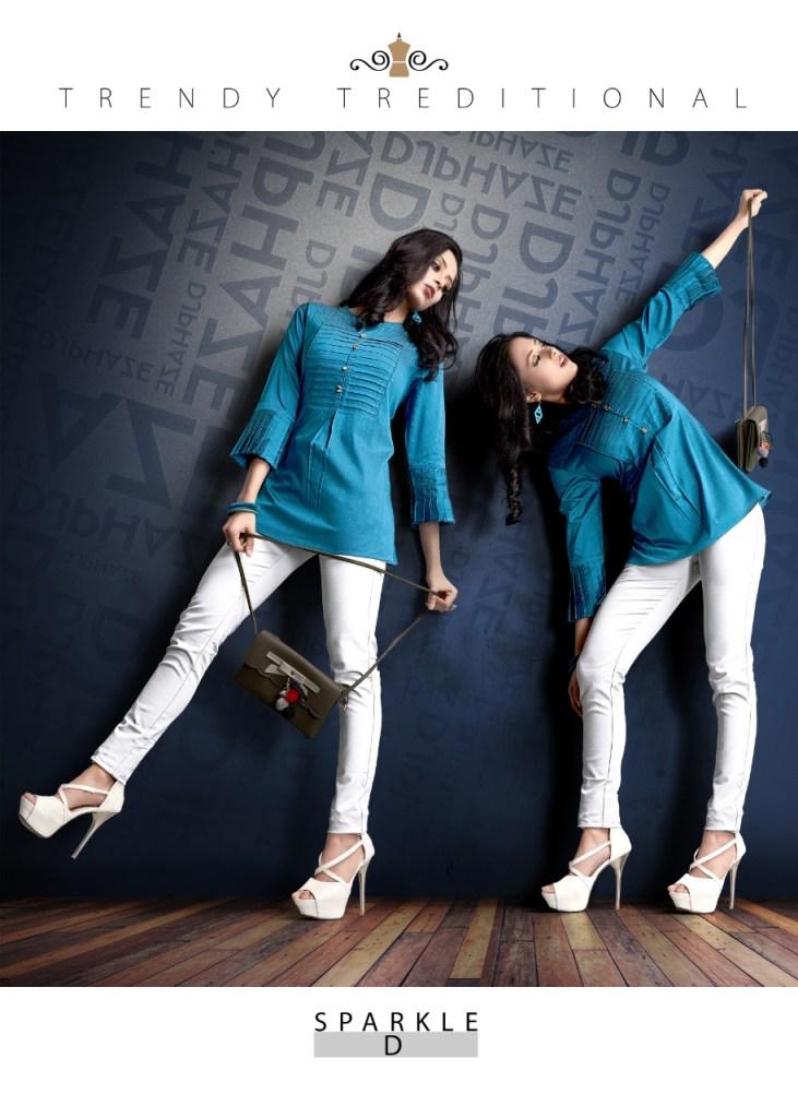 Prettify sparkle viscose designer short tunics ready to wear