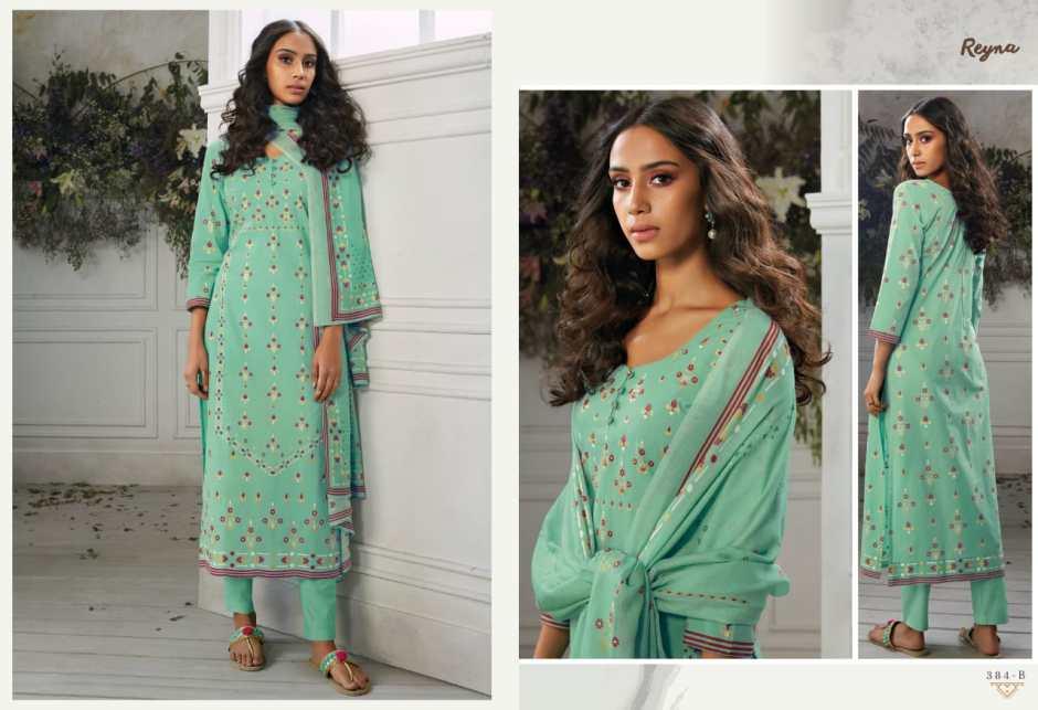 Reyna Fabrics amona cotton printed salwar kameez catalog