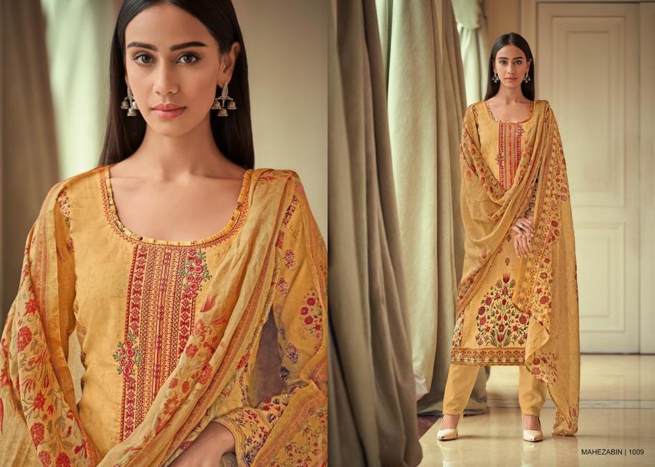 Riaz arts mahezabin embroidered Karachi printed cotton salwar kameez collection