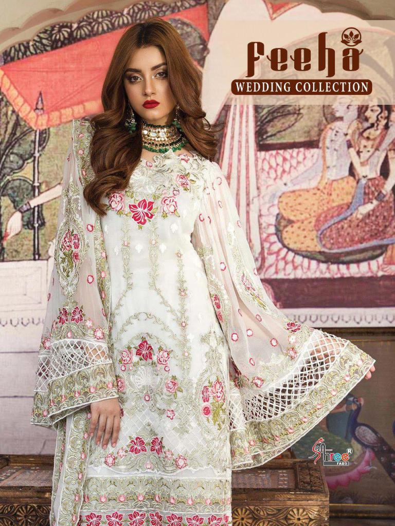 Shree fabs feeha wedding collection pakistani dress Material georgette suits