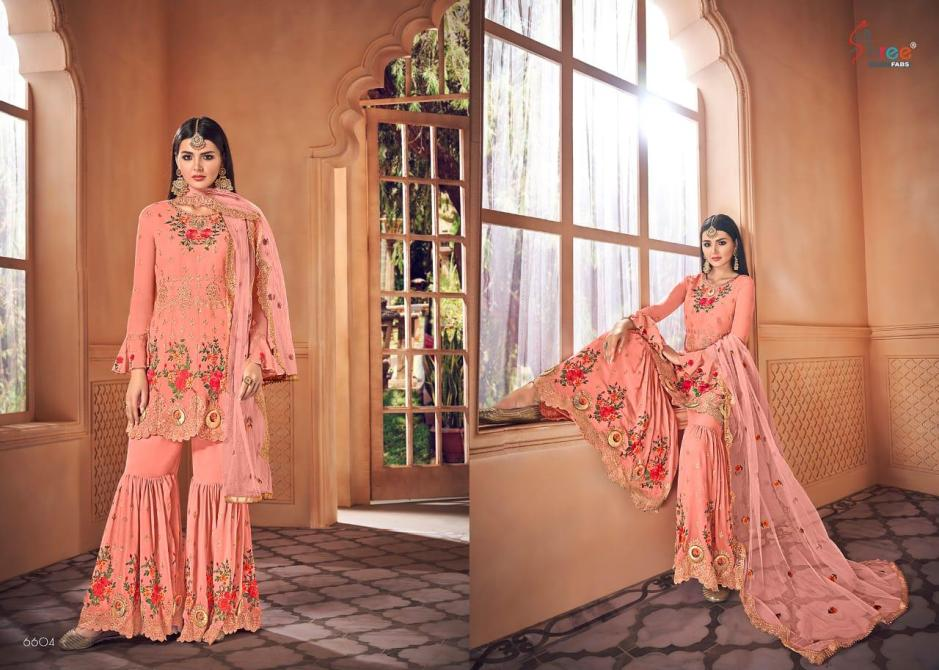 Shree fabs shehnai Exclusive heavy embroidered georgette salwar kameez collection