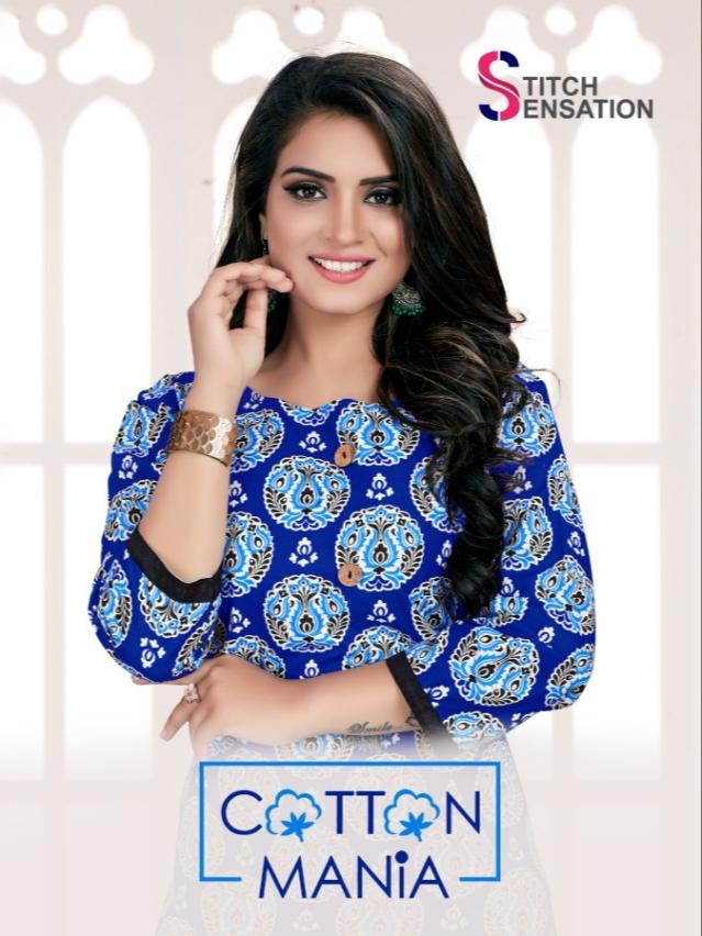 Stitch sensation cotton mania daily wear casual kurties