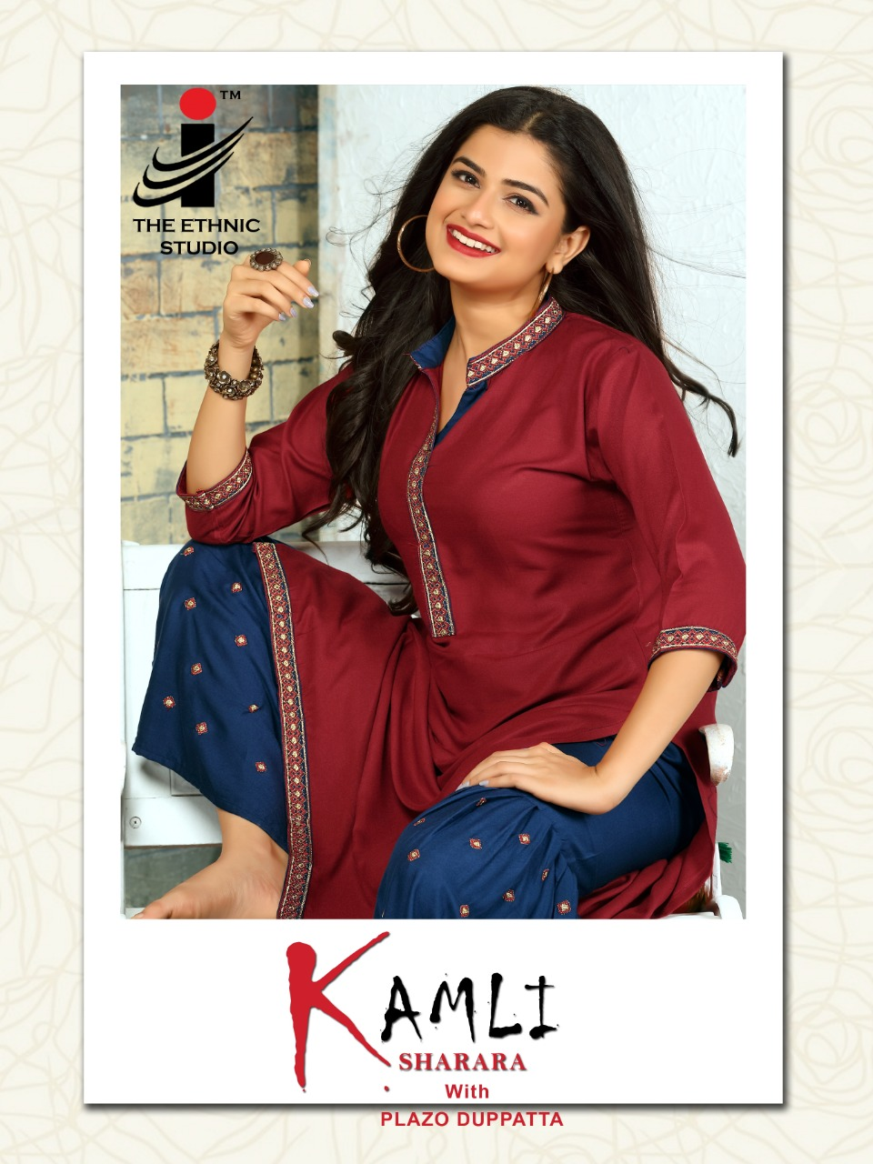 The ethnic studio kamli rayon kurti with sharara and dupatta catalog