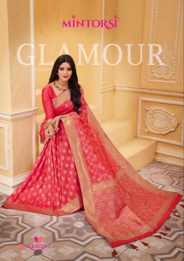 Varsiddhi mintorsi glamour traditional banarasi silk sarees at wholesale rate