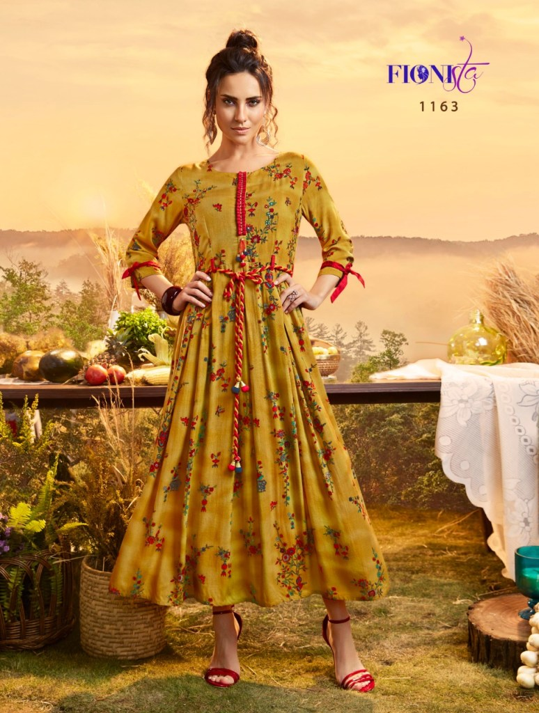 Fionista Maisie long cotton western wear gown collection