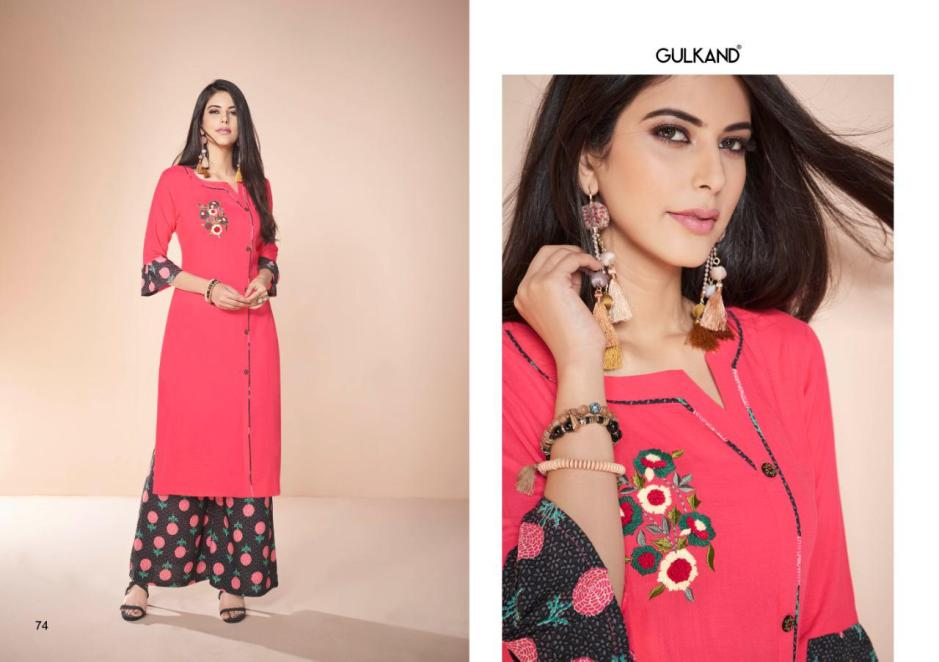 Gulkand designer kitaab vol 3 rayon kurties with plazzo collection