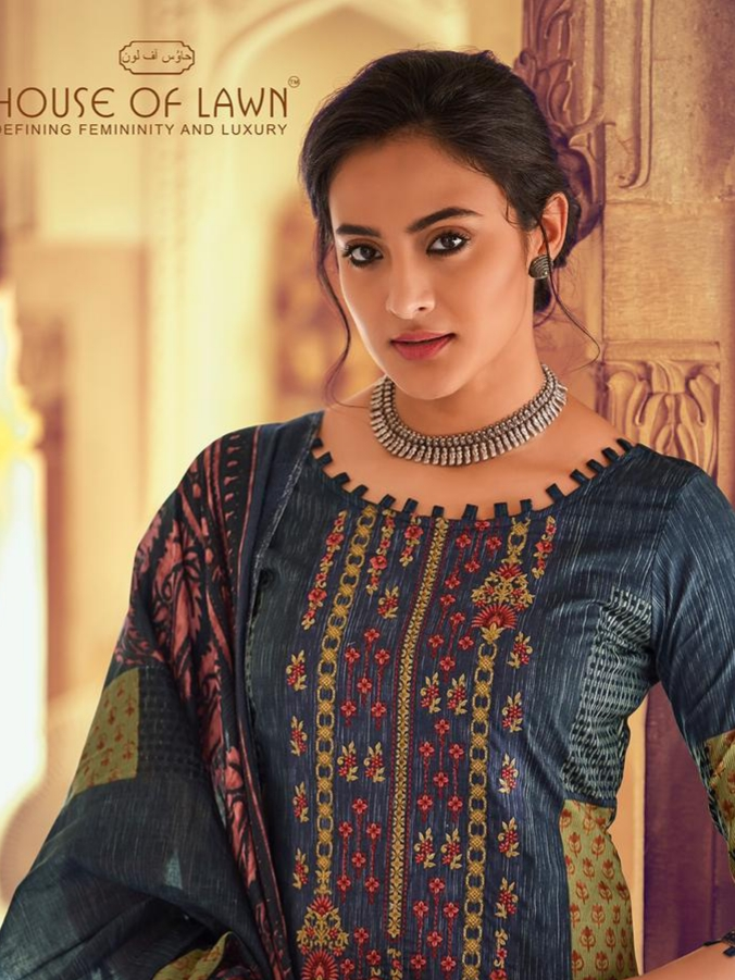 House of lawn gulbahar cotton embroidered salwar Suits exporter