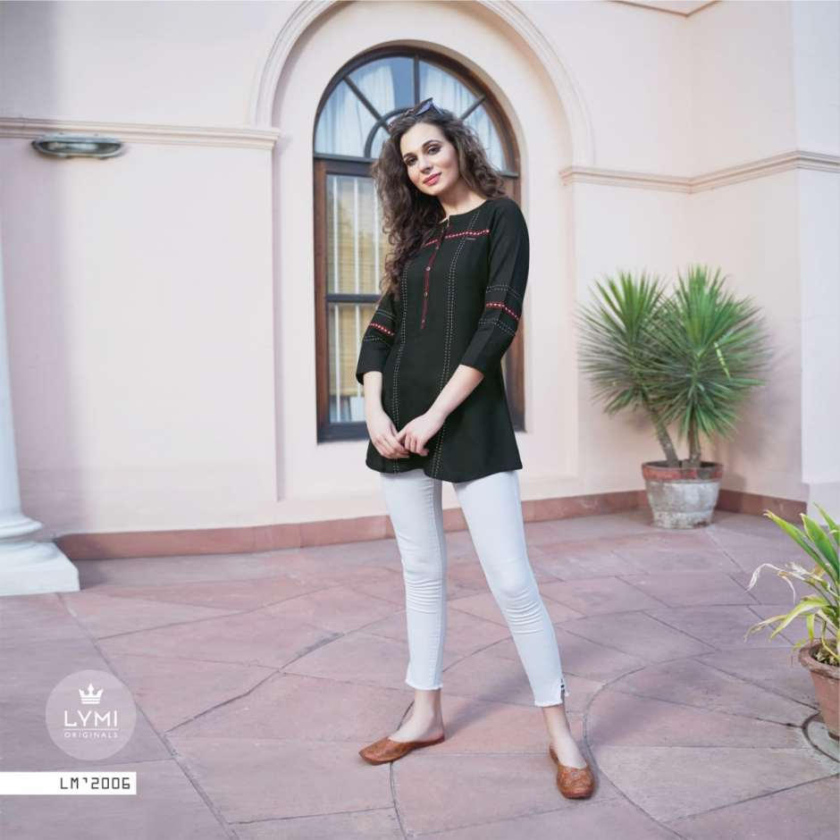 Lymi ramp vol 2 rayon short party wear tunics catalog