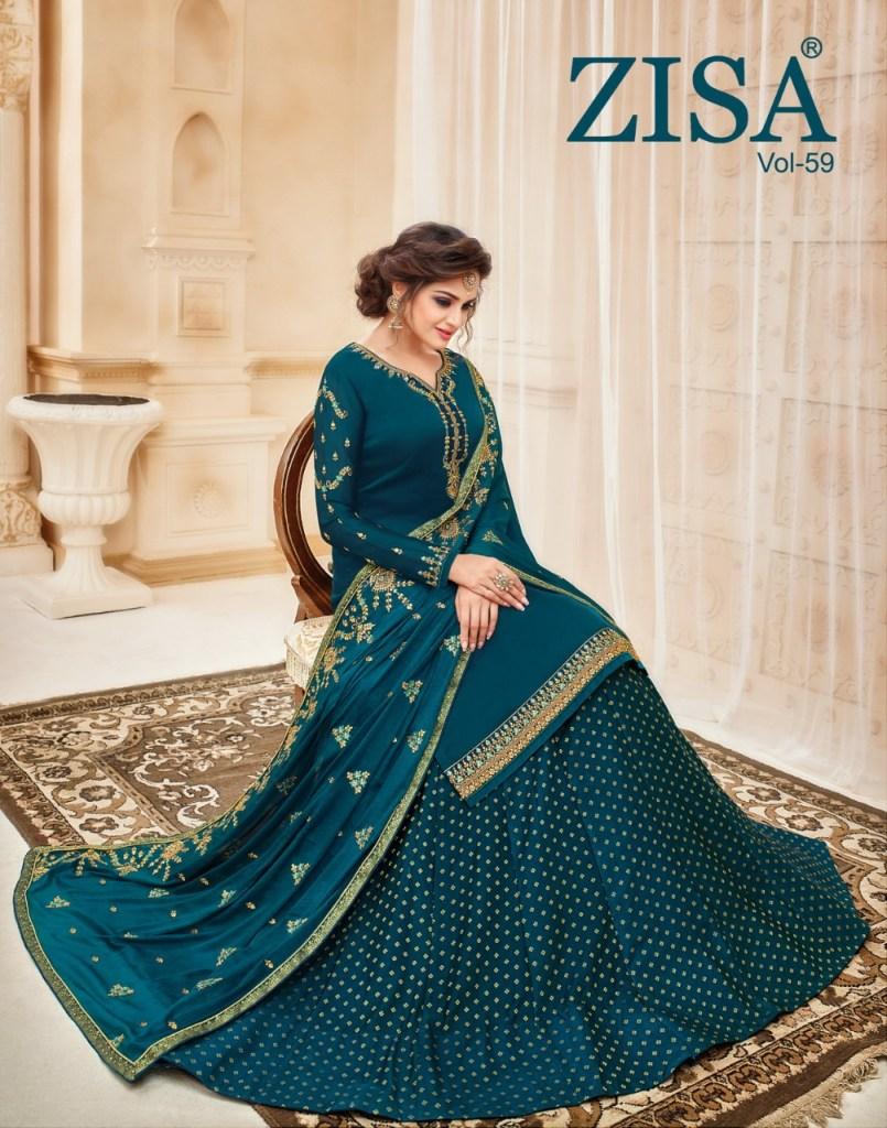 Meera trendz zisa vol 59 top with sharara salwar kameez collection