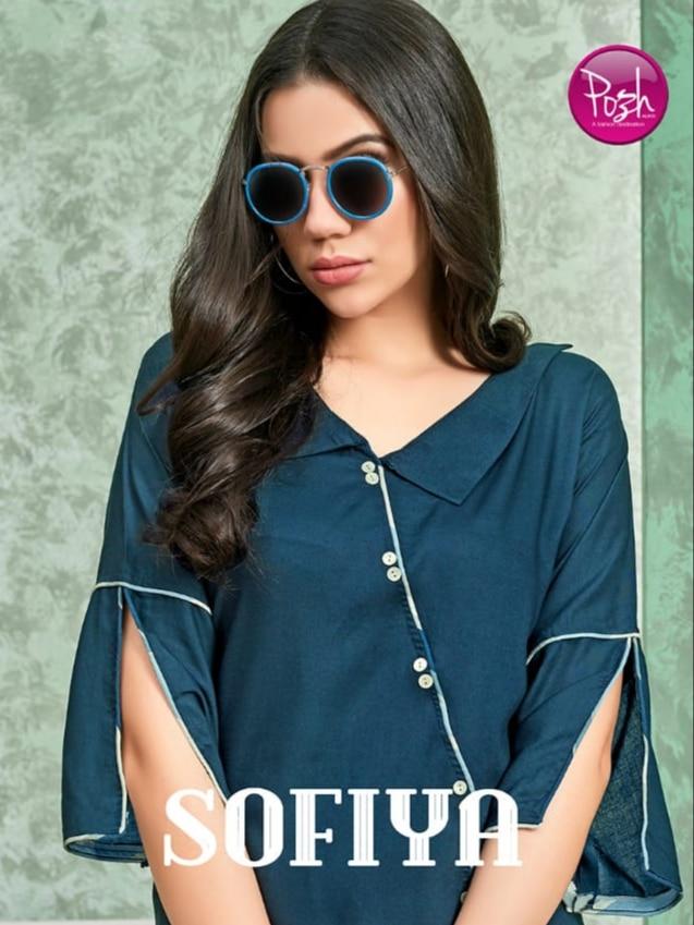 Posh Sofia rayon kurti with plazzo concept collection