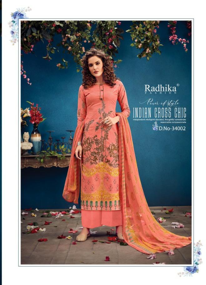 Rashika fashion azara vol 34 camric printed Salwar kameez at wholesale price