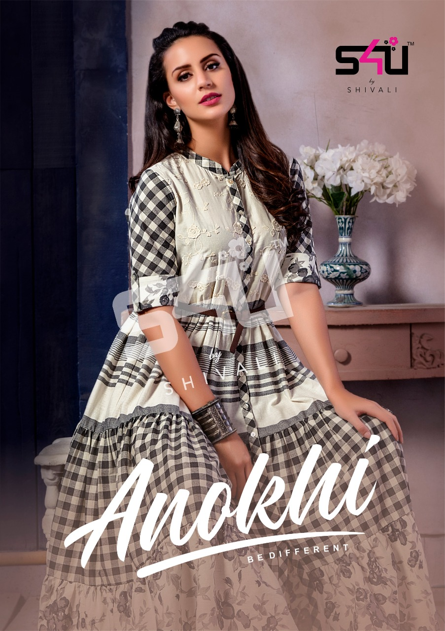 S4u by shivali anokhi long gown style kurties collection