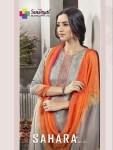 Sanskruti silk mills sahara vol 3 jam printed designer dress Material