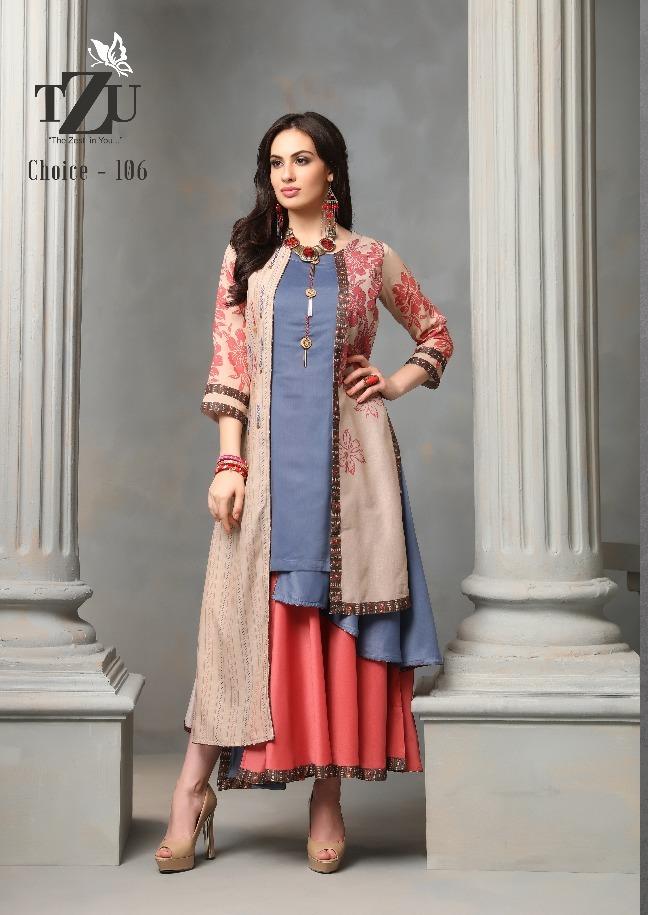 Tzu lifestyle choice beauty vol 3 muslin kurti with Jackets collection