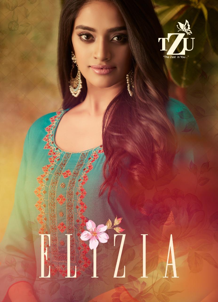 Tzu lifestyle elizia rayon kurti and sharara ready to wear collection