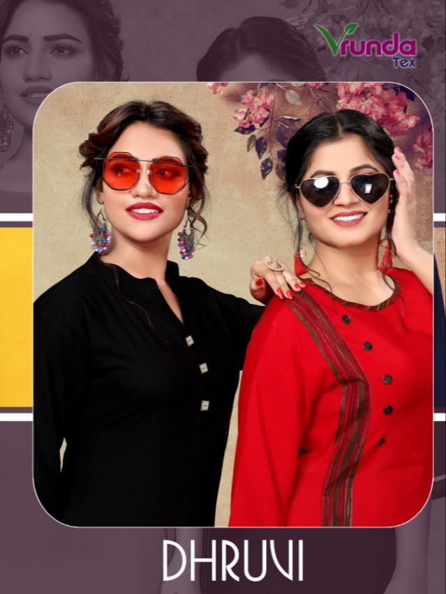 Vrunda tex dhruvi rayon kurti with plazzo concept