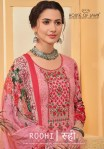 House of lawn roohi karachi lawn printed embroidered salwar suit Material