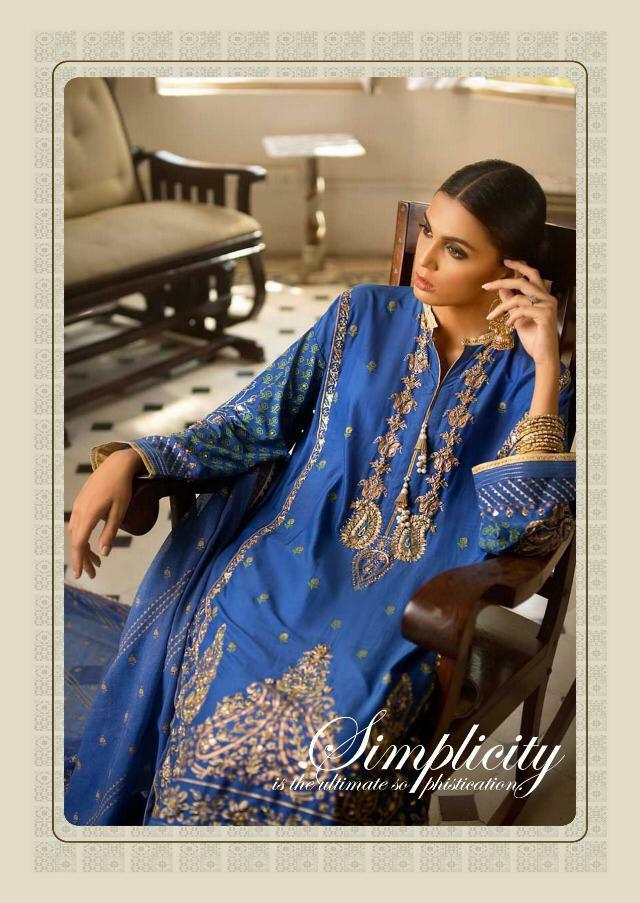 Kaara nasren Beautiful embroidery Salwar suit in wholesale price