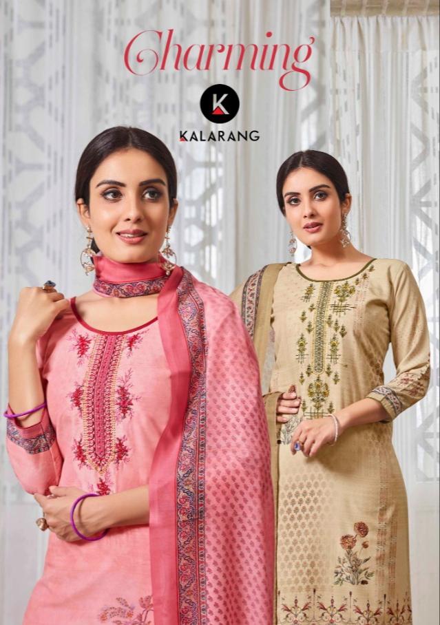 Kalarang creation charming digital muslin printed salwar suits Material at wholesale prices