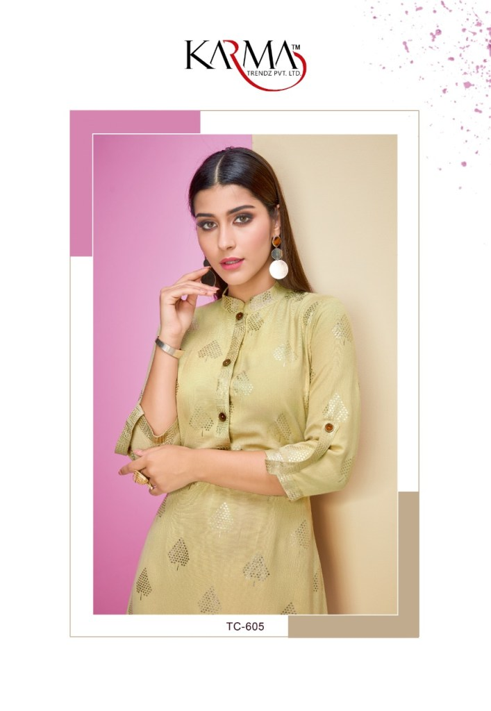 Karma trendz tucute rayon flex foil print collection of Kurties at wholesale prices